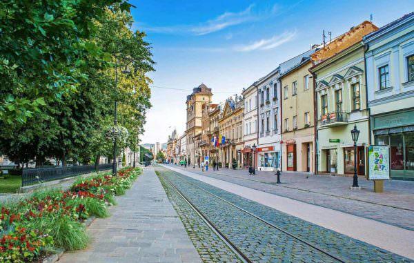 Die Innenstadt in Kosice